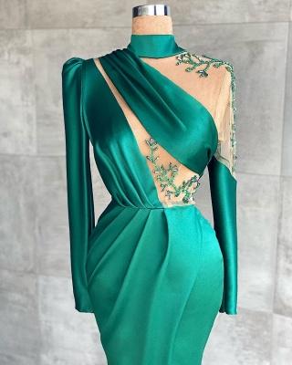 Grüne Abiballkleider Günstig | Abendkleider Lang Mit Ärmel_2