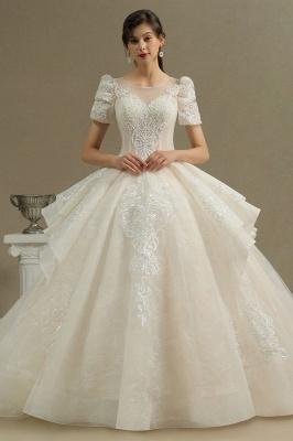 Schöne Brautkleider Mit Ärmel | Prinzessin Hochzeitskleider mit Spitze