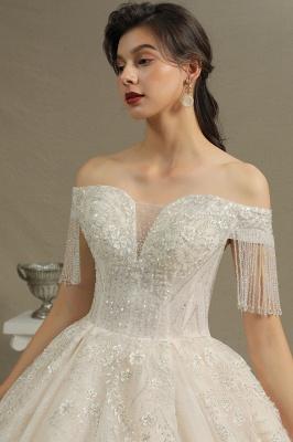Extravagante Brautkleider A Linie   Spitze Hochzeitskleider mit Ärmel_7