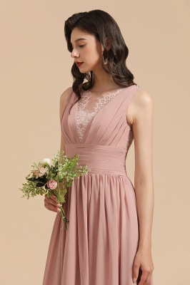 Schöne Brautjungfernkleider Altrosa   Hochzeitspartykleider Chiffon_9