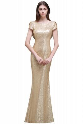 Gold Abendkleider Lang   Abiballkleider mit Glitzer_3