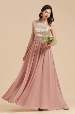 Brautjungfernkleider Lang Altrosa | Abendkleid mit Glitzer_5