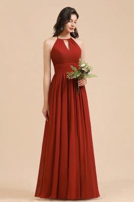 Rote Brautjungfernkleider Günstig   Chiffon Kleider Lang_6