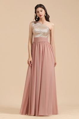 Brautjungfernkleider Lang Altrosa | Abendkleid mit Glitzer_1