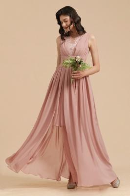 Schöne Brautjungfernkleider Altrosa   Hochzeitspartykleider Chiffon_8