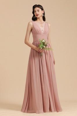 Schöne Brautjungfernkleider Altrosa   Hochzeitspartykleider Chiffon_4