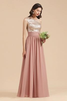 Brautjungfernkleider Lang Altrosa | Abendkleid mit Glitzer_6