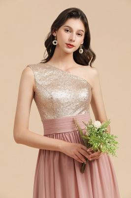 Brautjungfernkleider Lang Altrosa | Abendkleid mit Glitzer_9