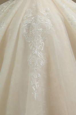 Schöne Brautkleider Mit Ärmel | Prinzessin Hochzeitskleider mit Spitze_5