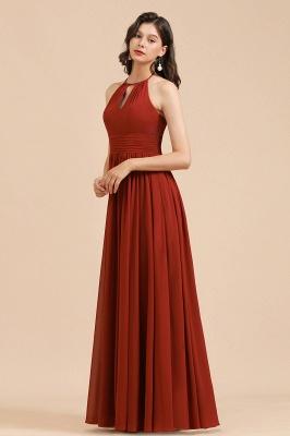 Rote Brautjungfernkleider Günstig   Chiffon Kleider Lang_4