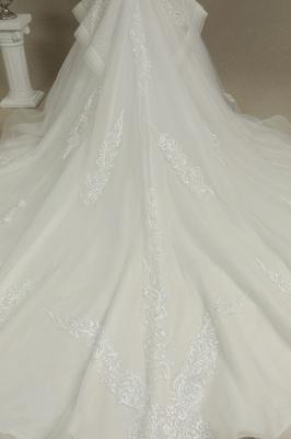 Designer Hochzeitskleider A Linie | Bruatkleider Spitzeärmel_6