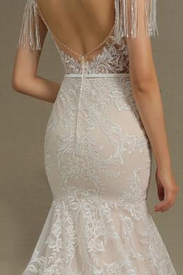 Elegante Brautkleider Meerjungfrau   Hochzeitskleider Spitze_8
