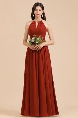 Rote Brautjungfernkleider Günstig   Chiffon Kleider Lang_5