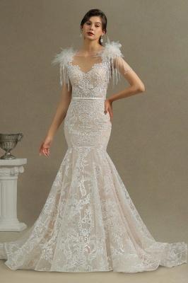 Elegante Brautkleider Meerjungfrau   Hochzeitskleider Spitze_1
