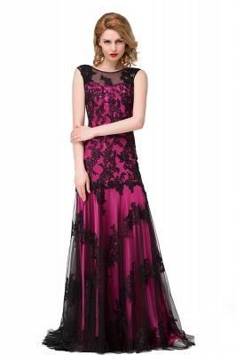 Designer Abendkleider mit Spitze | Abiballkleider Lang Schwarz_3