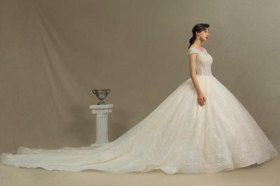Hochzeitskleider A Linie   Brautkleider Spitze Günstig Online_6