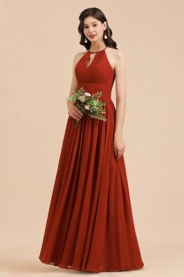 Rote Brautjungfernkleider Günstig   Chiffon Kleider Lang_1