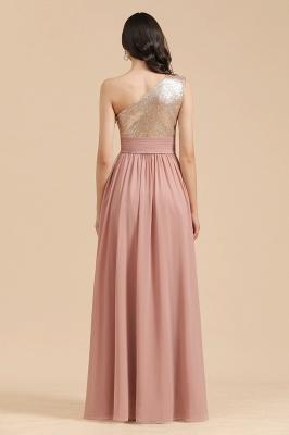 Brautjungfernkleider Lang Altrosa | Abendkleid mit Glitzer_3