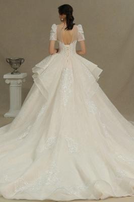 Schöne Brautkleider Mit Ärmel | Prinzessin Hochzeitskleider mit Spitze_7