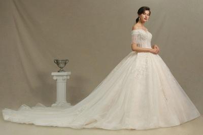 Extravagante Brautkleider A Linie   Spitze Hochzeitskleider mit Ärmel_3