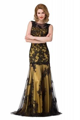 Designer Abendkleider mit Spitze | Abiballkleider Lang Schwarz_4