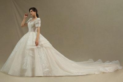 Schöne Brautkleider Mit Ärmel | Prinzessin Hochzeitskleider mit Spitze_3