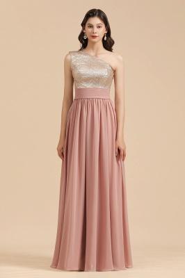 Brautjungfernkleider Lang Altrosa | Abendkleid mit Glitzer_4