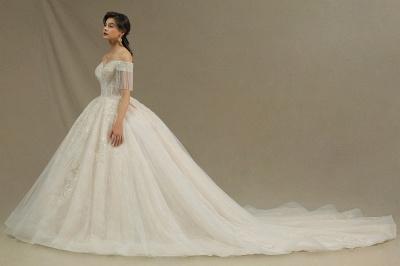 Extravagante Brautkleider A Linie   Spitze Hochzeitskleider mit Ärmel_6
