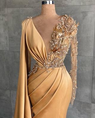 Abendkleider Lang Gold | Abiballkleider mit Glitzer_2