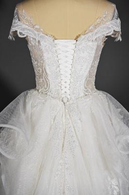 Brautkleider A Linie Günstig | Hochzeitskleider mit Spitze_7