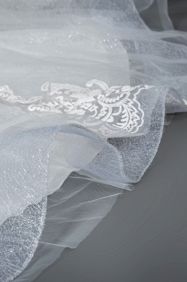 Schlichte Brautkleider Prinzessin   Hochzeitskleider mit Spitze_5