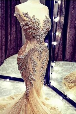 Extravagante Abendkleider Lang Glitzer | Abiballkleider Gold