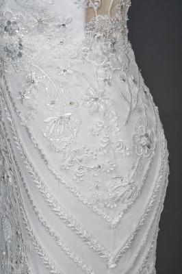 Elegante Brautkleider Meerjungfrau | Spitze Hochzeitskleider Günstig_3