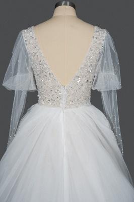Fashion Brautkleider A Linie   Hochzeitskleider mit Ärmel_2
