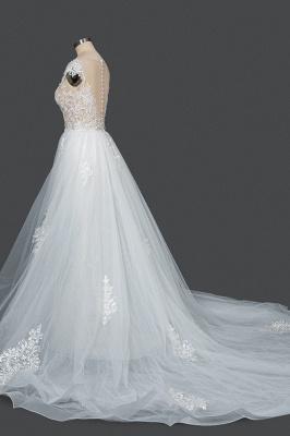 Schöne Hochzeitskleider A Linie Spitze | Brautkleider Online Kaufen_3