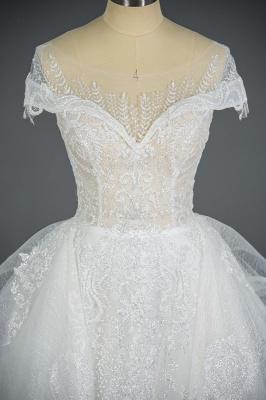 Brautkleider A Linie Günstig | Hochzeitskleider mit Spitze_8