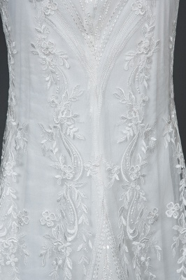 Schöne Hochzeitskleider A Linie Spitze | Brautkleider Online Kaufen_4