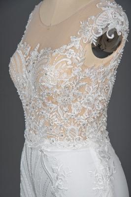 Schöne Hochzeitskleider A Linie Spitze | Brautkleider Online Kaufen_11