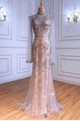 Extravagante Abendkleider Mit Ärmel | Abiballkleider Lang Glitzer_1