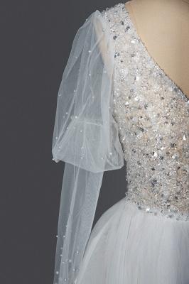 Fashion Brautkleider A Linie   Hochzeitskleider mit Ärmel_6