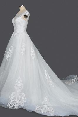 Schlichte Brautkleider Prinzessin   Hochzeitskleider mit Spitze_3