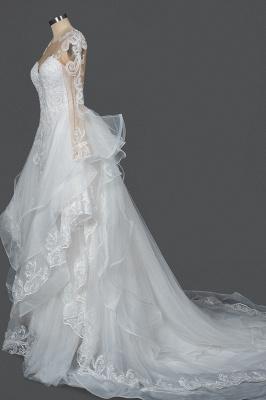 Designer Hochzeitskleider Mit Ärmel | Brautkleider A Linie Spitze_8