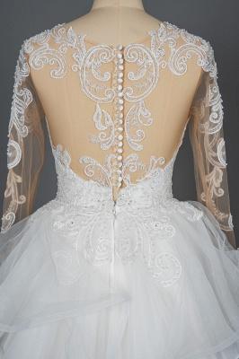 Designer Hochzeitskleider Mit Ärmel | Brautkleider A Linie Spitze_3
