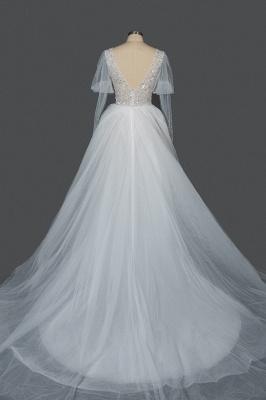Fashion Brautkleider A Linie   Hochzeitskleider mit Ärmel_4