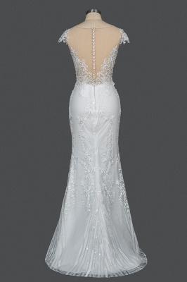 Schöne Hochzeitskleider A Linie Spitze | Brautkleider Online Kaufen_5
