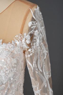 Extravagante Brautkleider Mit Ärmel | Prinzessin Hochzeitskleider Spitze_5