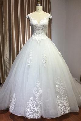 Schlichte Brautkleider Prinzessin | Hochzeitskleider mit Spitze