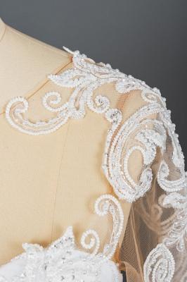 Designer Hochzeitskleider Mit Ärmel | Brautkleider A Linie Spitze_12