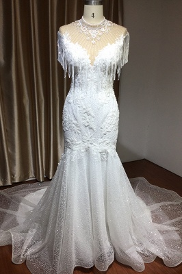 Brautkleider Meerjungfrau Spitze   Hochzeitskleider Günstig_4