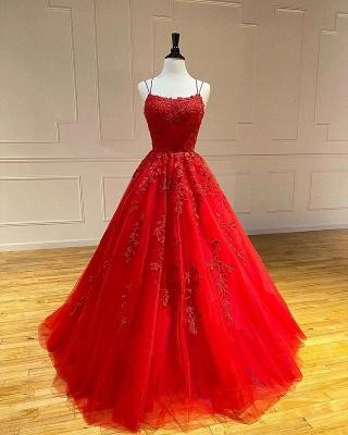 Rote Abendkleider Lang Günstig | Spitze Abiballkleider Online_1